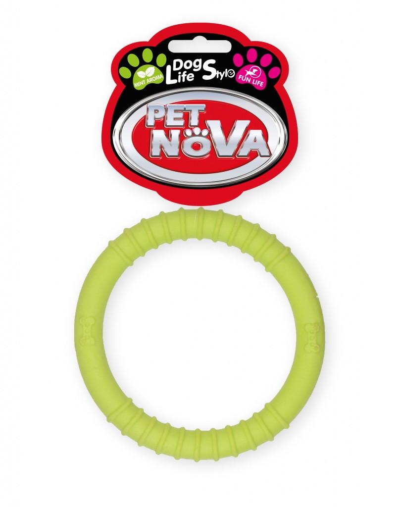 Іграшка для собак Кільце Ringo Pet Nova 9.5 см жовтий