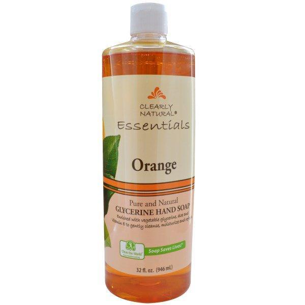 Clearly Natural, Essentials, Glycerine Hand Soap, Orange, 32 fl oz (946 ml)