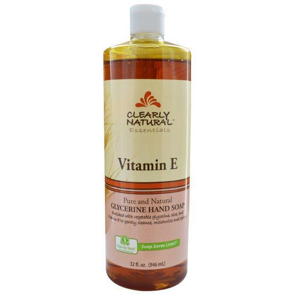 Clearly Natural, Essentials, Glycerine Hand Soap, Vitamin E, 32 fl oz (946 ml)