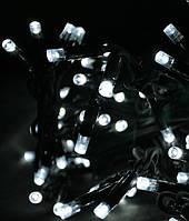 Уличная светодиодная гирлянда 100 LED белый 10 м черный провод