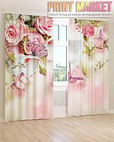 Фото шторы розы и каллы