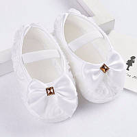 Детские белые ажурные пинетки для крестин девочки от 0 до 18 месяцев