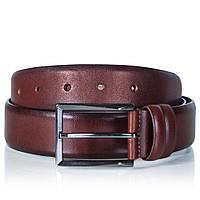 Ремень мужской кожаный коричневый Glasman 1200