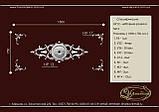Набірна розетка з гіпсу, гіпсова розетка Нр2Ну17  1800х750 мм., фото 2