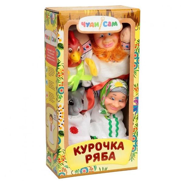 Кукольный театр Курочка Ряба (4 персонажа)