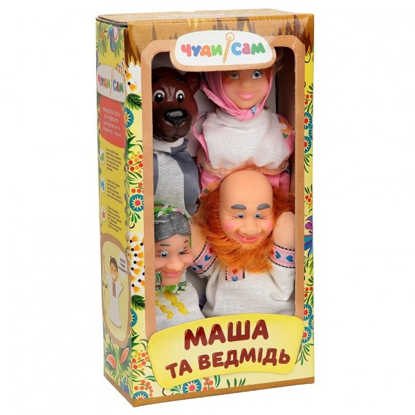 Кукольный театр Маша и Медведь (4 персонажа)