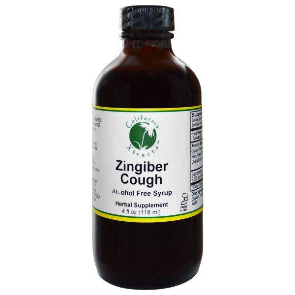 California Xtracts, Zingiber Cough, Alcohol Free Syrup, 4 fl oz (118 ml)
