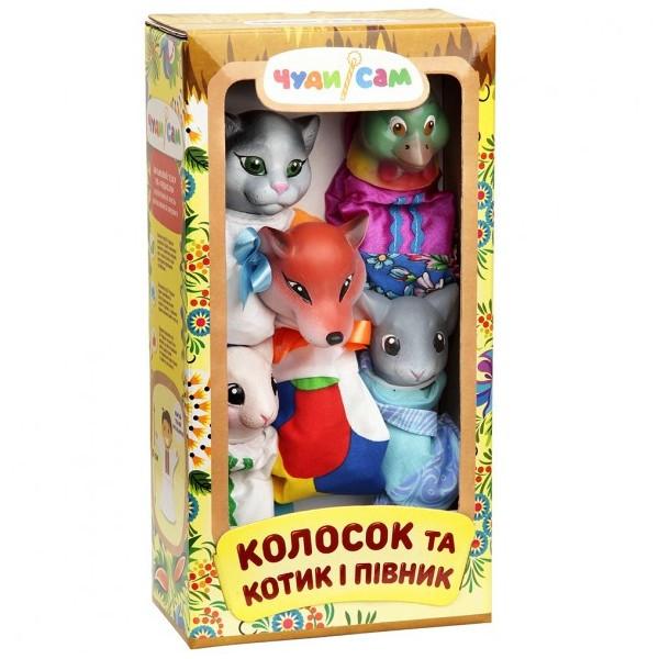Кукольный театр Колосок, Котик и Петушок (5 персонажей)
