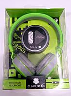 Наушники с микрофоном MS-TV1A зеленые