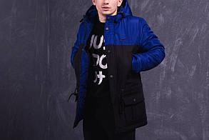 Мужская куртка-парка с наполнителем Slimtex 150 черного цвета. Сезон: весна/осень (до -5 С). Код: ПВ003/850