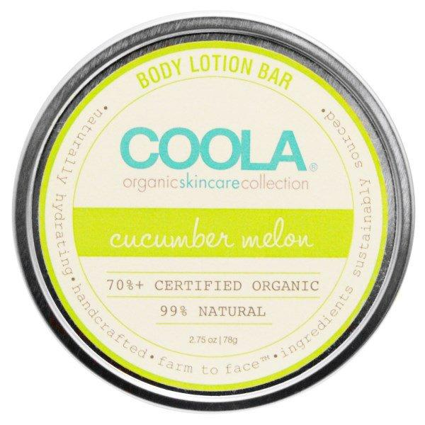 COOLA Organic Suncare Collection, Body Lotion Bar, Cucumber Melon, 2.75 oz (78 g)