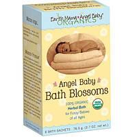 Earth Mama Angel Baby, Цветочные и травяные ванны, 6 пакетиков с травами для ванн, 2.7 унций (76.5 г)