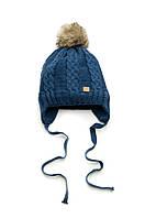 Детская зимняя шапка для мальчика, теплая шапочка на завязках, шапка на флисе