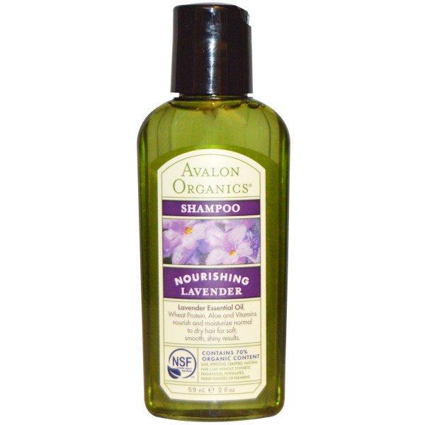 Avalon Organics, Питательный шампунь с лавандой, 2 жидких унции (59 мл)