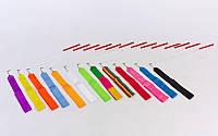 Лента для художественной гимнастики l-6,3м C-3248 (NY l-6,3м, палочка-металл, l-58,5см,цвета разные)