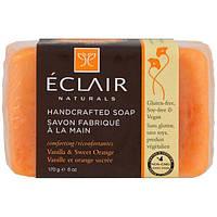 Eclair Naturals, Мыло ручной работы, ваниль и сладкий апельсин, 170 г (6 унций)