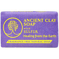Zion Health, Ancient Clay Soap With Sulfur, Fragrance Free, 6 oz (170 g)