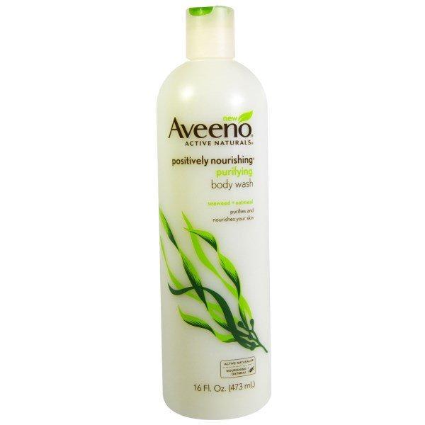 Aveeno, Active Naturals, Positively Nourishing Purifying Body Wash, Seaweed + Oatmeal, 16 fl oz (473 ml)