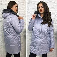 Женская зимняя куртка №3-488 БАТАЛ