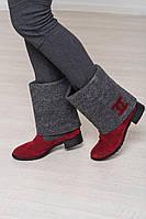 Сапоги-валенки женские зимние на каблуке