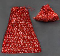 Бархатный мешок Деда Мороза, мешок для подарков (50х70см)