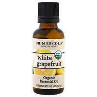 Dr. Mercola, Органическое эфирное масло, белый грейпфрут, 1 унция (30 мл)