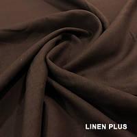 Темная льняная ткань с коричневым оттенком, цвет 403