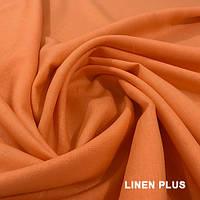 Оранжевая льняная ткань 100% лен, цвет 756