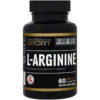California Gold Nutrition, L-аргинин, AjiPure, 500 мг, 60 растительных капсул