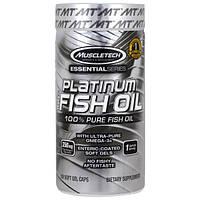Muscletech, Рыбий жир Platinum 100%, 100 мягких гелевых капсул