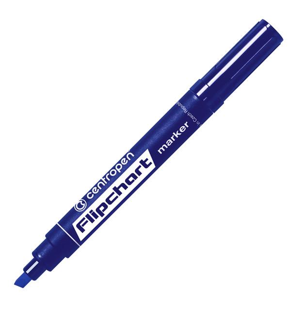 Маркер для фліпчарта Centropen Flipchart 8560, 1-4,6 мм, клиноподобный наконечник, синій