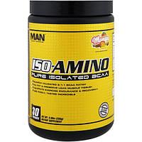 MAN Sports, ISO-Amino, чистые изолированные аминокислоты с разветвленной цепью, манго, 8.99 унций, (255 г)