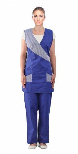 Синий костюм для обслуживающего персонала