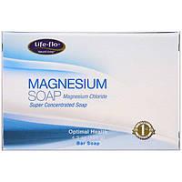 Life Flo Health, Магниевое мыло, магния хлорид, суперконцентрированное кусковое мыло, 4,3 унции (121 г)