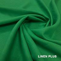 Салатовая льняная ткань 100% лен, цвет 393