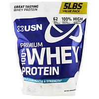 USN, 100% премиальный сывороточный протеин, шоколад, 5 фунтов (2,27 кг)