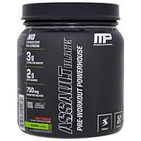 MusclePharm, Assault Black, энергетическое средство для приема перед тренировкой, фруктовый пунш, 13,12 унц. (372 г)