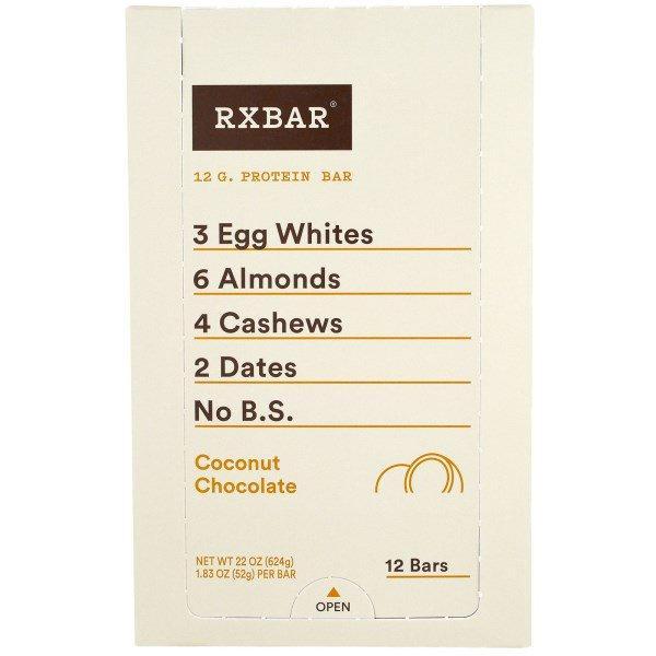 RXBAR, Протеиновые батончики, Кокос и шоколад, 12 батончиков, 1,83 унции (52 г) каждый