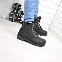 1745f294a8cd Ботинки женские Timber молния черные Зима 3810, зимние ботинки женские