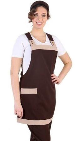 Стильный коричневый фартук для обслуживающего персонала