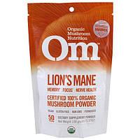 Organic Mushroom Nutrition, Львиная грива, грибной порошок, 3.57 унций (100 г)