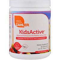 Zahler, Kids Active, усовершенствованный состав для здоровья активных детей, фруктовый пунш, 6.7 унций (192 г)