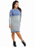 Платье (48-50, 52-54) —трехнитка на флисе купить оптом и в розницу в одессе  7км
