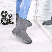 Угги женские UGG средние серые 3812, зимняя обувь