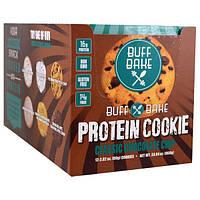 Buff Bake, Протеиновое печенье, классическая шоколадная крошка, 12 штук, 2.82 унции (80 г) каждое