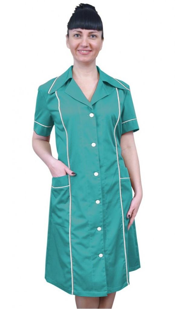 Зеленая спецодежда для обслуживающего персонала