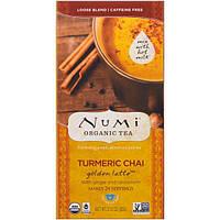 Numi Tea, Organic, чай из куркумы, чай золотой латте, без кофеина, 2.12 унции (60 г)