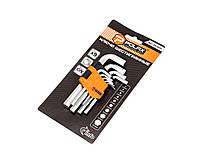 Набор шестигранных ключей Polax 1,5-10 мм 9 шт