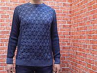 Свитер мужской, вязанный (цвет синий) Kaptan 70037