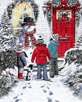 "VP783 ""Рождественская сказка"" Картина по номерам на холсте 40х50см"